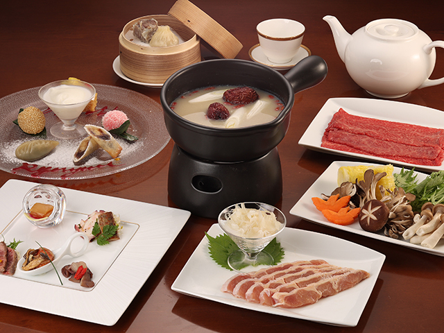 【チャイナルーム「龍遊里」】飛騨の食材やコラーゲンたっぷりの火鍋などを味わえる期間限定プラン!