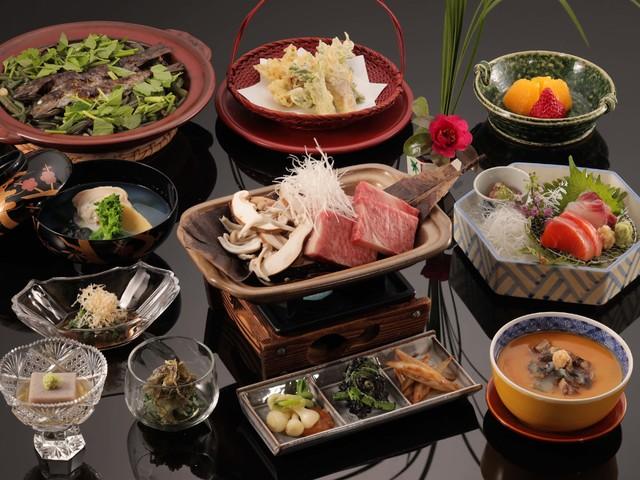 【料理茶屋「北乃寮」】山菜と飛騨牛の春限定会席( 写真はイメージです)