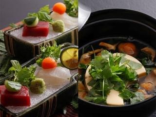 季節の旬の食材を使った会席料理をご用意させて頂いて